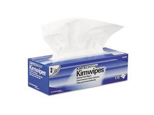 Kimberly Clark 34743 KIMWIPES Delicate Task Wipers, 3-Ply, 11 4/5 x 11 4/5, 119/Box, 15 Boxes/Carton