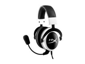 Kingston KHX-H3CLW HyperX Cloud Headset - Stereo - White - Mini-phone - Wired - 60 Ohm - 15 Hz - 25 kHz - Over-the-head - Binaural - Circumaural - Noise Cancelling, Uni-directional Microphone