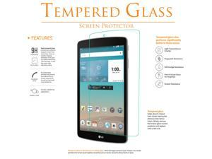 Shatter-Proof Scratch-Guard 9H Premium Clear Self-Adhere LCD Toughened Tempered Glass Screen Protector For LG G PAD F 8.0 V495 by KIQ