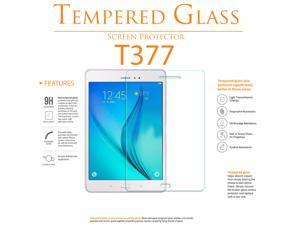 Shatter-Proof Scratch-Guard 9H Premium Clear Self-Adhere LCD Toughened Tempered Glass Screen Protector For Samsung Galaxy Tab E 8 T377 by KIQ
