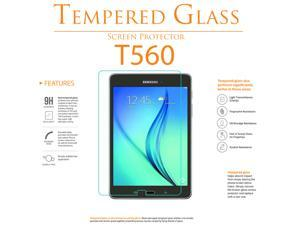 Shatter-Proof Scratch-Guard 9H Premium Clear Self-Adhere LCD Toughened Tempered Glass Screen Protector For Samsung Galaxy Tab E 9.6 T560 by KIQ