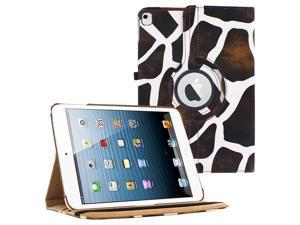 iPad Pro 12.9 360 Rotating Case By KIQ Slim Folio Stand PU Leather Case Cover for iPad Pro 12.9-Inch - Giraffe