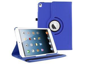 iPad Pro 9.7 360 Rotating Case By KIQ Slim Folio Stand PU Leather Case Cover for iPad Pro 9.7 - Dark Blue