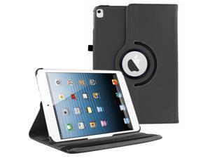 iPad Pro 9.7 360 Rotating Case By KIQ Slim Folio Stand PU Leather Case Cover for iPad Pro 9.7 - Black