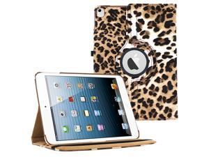 iPad Pro 12.9 360 Rotating Case By KIQ Slim Folio Stand PU Leather Case Cover for iPad Pro 12.9-Inch - Leopard