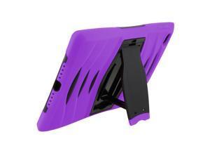 Purple Heavy Duty Armor Hybrid Shock-Proof Kid-Proof Protection Case Cover for Apple iPad Mini 4 by KIQ