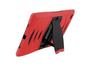 Red Heavy Duty Armor Hybrid Shock-Proof Kid-Proof Protection Case Cover for Apple iPad Mini 4 by KIQ