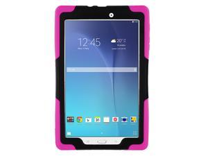 Pink Heavy Duty Armor Hybrid Shock-Proof Kid-Proof Protection Case Cover for Samsung Galaxy Tab E 9.6 T560