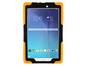 Orange Heavy Duty Armor Hybrid Shock-Proof Kid-Proof Protection Case Cover for Samsung Galaxy Tab E 9.6 T560