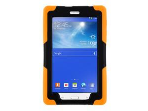 Orange Heavy Duty Armor Hybrid Shock-Proof Kid-Proof Protection Case Cover for Samsung Galaxy Tab E 7.0 / 3 7 Lite T110 T111 T113 T116