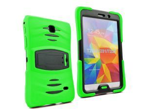 Green Heavy Duty Armor Hybrid Shock-Proof Kid-Proof Protection Case Cover for Samsung Galaxy Tab 4 7.0 T230