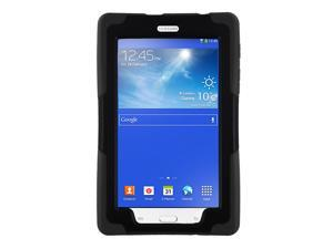 Black Heavy Duty Armor Hybrid Shock-Proof Kid-Proof Protection Case Cover for Samsung Galaxy Tab E 7.0 / 3 7 Lite T110 T111 T113 T116