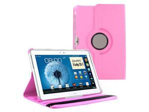 "KIQ (TM) Light Pink 360 Rotating Leather Case Cover Skin Stand for Samsung Galaxy Note 10.1"" N8000"