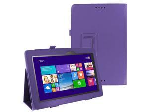 PURPLE Portfolio SLIM Leather Case Smart Cover Skin for ASUS T100 Tablet