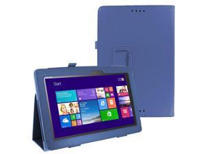 DARK BLUE Portfolio SLIM Leather Case Smart Cover Skin for ASUS T100 Tablet
