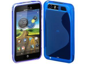 Cimo S-Line Back Flexible TPU Case for Motorola Atrix HD (AT&T) - Blue