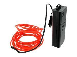 Esky 9ft Red Neon Glowing Strobing Electro Luminescent Electroluminescent Wire (EL Wire)