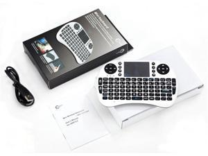 Esky® Mini i8 2.4GHz Wireless Entertainment White Keyboard with Touchpad for PC, Pad, Andriod TV Box, Google TV Box, Xbox360, PS3 & HTPC/IPTV