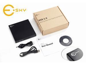 Esky® USB 2.0 External 8x DVD+/-RW DL Slim Burner/Drive Read/write CD DVD Drive for Dell Inspiron Mini IM10 Mini IM12 mini ...