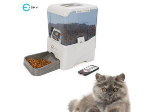 Esky 5-Meal Remote Controlled Programmable Portion Control Automatic  Dog and Cat Feeder w/ LCD Display