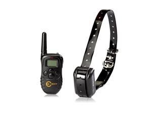 Esky EP-300R-B1 UP to 300M Range Rechargeable LCD Remote Shock Control Pet Dog Training Collar with 100 Level of Vibration + 100 Level of Static Shock + Tone For 15-120lb Dog