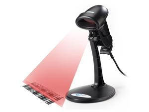 Esky® USB Automatic Barcode Scanner Scanning Barcode Bar-code Reader with Hands Free Adjustable Stand - Black