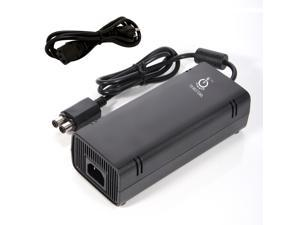 Intocircuit 135W 12V AC Adapter Charger Power Supply Cord for Microsoft Xbox 360 Slim Brick