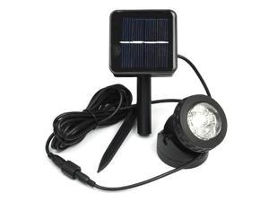 Waterproof Solar Powered LED Spotlight Lamp Lawn Garden Path Pond Outdoor Light