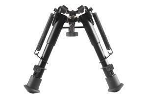 "Ohuhu 6"" to 9"" Adjustable Handy Spring Return Sniper Hunting Tactical Rifle Bipod - Black"