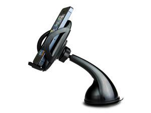 "iClever ICH03 360 Degree Rotation Universal Windshield Dashboard Car Mount Cradle Holder for Smartphones (1.9"" - 3.7"" Extendable)"