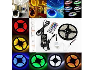 7 Color Waterproof OxyLED 300 LED SMD RGB 5050 LED Strip Light 5M+ 44 Key IR Remote + 12V 5A Power Supply Included