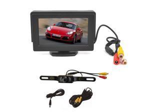 "Esky 4.3"" Portable TFT LCD Monitor Backup Reverse Monitor Night Vision + Universal Car Rear View Camera System"