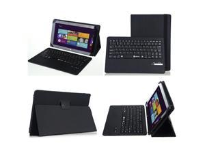 "For Microsoft Surface 2 Surface RT 10.6"" Leather Case Cover + Bluetooth Keyboard"