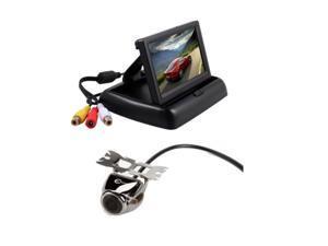 "4.3"" TFT LCD Monitor Car Rear View System Backup Reverse Camera Kit Night Vision 170° Range Hi-definition Color CCD"