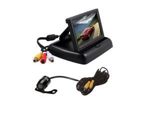 """Hisgadget 4.3"""" TFT LCD Car Backup Reverse Monitor + 170° Waterproof Car Rear Night View Reverse Backup Parking CCD Camera"""