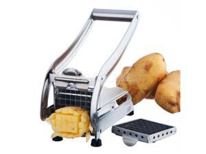 Ohuhu Manual Stainless Steel Potato Slicer French Fry Vegetable Cutter