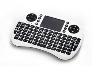 Esky Mini i8 2.4GHz Wireless Entertainment Keyboard with Touchpad for PC, Pad, Andriod TV Box, Google TV Box, Xbox360, PS3 & HTPC/IPTV white