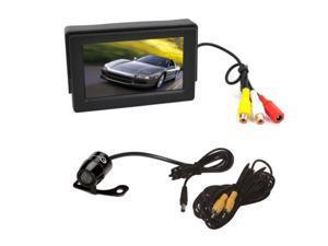 "Esky 4.3"" TFT LCD Car Monitor + Rear View Reverse Backup Camera Kit"