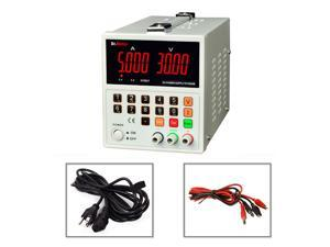 Dr.meter HY3005M-L Variable DC Power Supply,Linear Digital, 0-30V @ 0-5A,Input voltage 104-127V with Banana to Alligator Cable