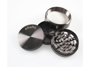 "Ohuhu® Four 4 Piece Zinc Herb Tobacco Spice Grinder Crusher 2.38"""