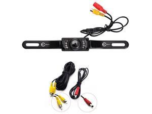 Hisgadget CMOS Car Universal Rear View Reverse Backup Camera - 7 LED, Night Vision, Waterproof