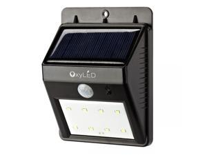 OxyLED SL30 Wireless Outdoor LED Light Solar Energy Powered Weatherproof Motion Sensor Detector Activated for Patio, Deck (Rechargeable Battery Included) Dusk to Dawn Dark Sensing Auto On / Off