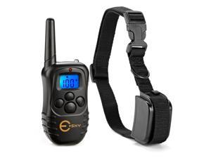 Esky Rechargable LCD Remote Control Dog Training Shock Collar with 100 Level Shock and Vibration, LED Backlight, US Charger Included