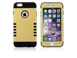 Ohuhu TPU 3 IN 1 ten point robot Hybrid Rubber Hard Cover Case For Apple iPhone 6 plus 5.5 with screen protector(Gold PC + Black,Purple PC + Black)