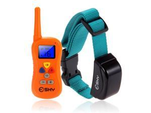 Esky Rechargeable LCD Remote Shock Control Pet Dog Training Collar with 100 Level of Vibration + 100 Level of Static Shock+ 1 Level Tone For Medium / Large Dog
