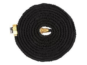 Ohuhu 150 Ft Super Strong Garden Hose / Expandable Hose, 150 Feet Expandable Garden Hose with All Brass Ends and Connector - Black