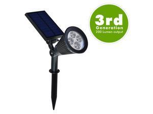 OxyLED E03S LED Solar Spotlight / Solar Powered Outdoor Wall Light - Waterproof, 180°Angle Adjustable
