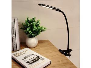 OxyLED T33 Portable Dimmable Eye-Care LED Desk Lamp, Clamp Light (5W,Flexible Gooseneck, 2-Level Dimmer, Simple Switch Control, Clip On Book Light, Black)