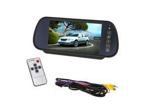 """12V 7"""" LCD Screen Car Rear View Backup Mirror Monitor English manual"""