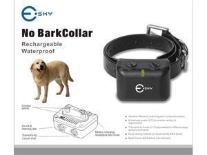 Esky® Dog Training Collar No Bark Collar Waterproof & Rechargeable 7 levels Intensity 5 levels Sensitivity Adjustable